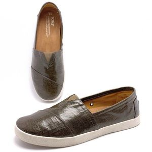 Toms Avalon 9 Coated Canvas Slip On Loafers Flats